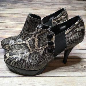 UNLISTED • Snakeskin Booties Sz 10   *NWOT*